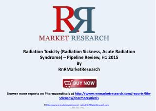 Radiation Sickness Pipeline Review, H1 2015