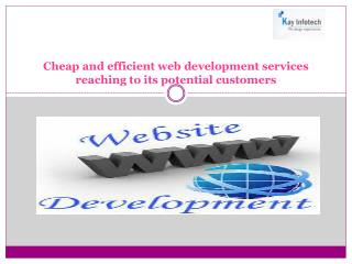Cheap and efficient web development services reaching to its