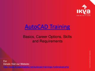 Best AutoCAD Training in Hyderabad