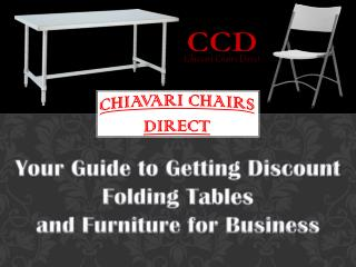 Your Guide to Getting Discount Folding Tables and Furniture