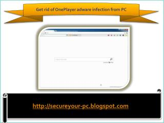 Remove OnePlayer adware (Removal Guide), How To Remove OnePl