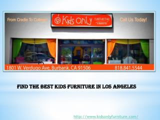 Find the Best Kids Furniture in Los Angeles