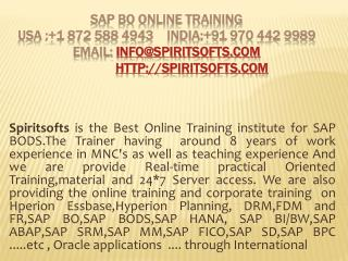SAP BO Online Training | Job Support