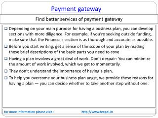 Know the Importance of Services payment gateway