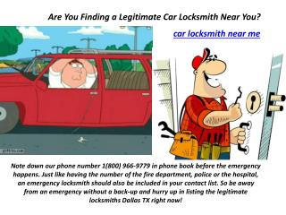 Are You Finding a Legitimate Car Locksmith Near You?