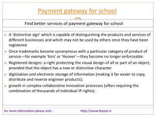 Outstanding creativity with the payment gateway for school