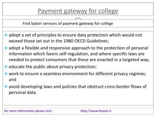 Payment gateway for college  is the best online portal