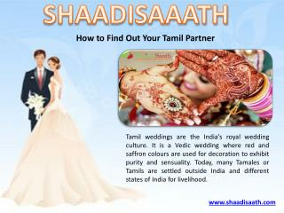 How to Find Out Your Tamil Partner
