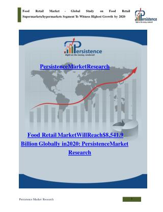 Food Retail Market - Global Study on Food Retail to 2020