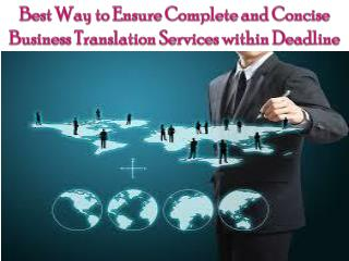 Best Way to Ensure Complete Business Translation Service