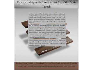 Efficacy of FRP Anti-Slip Stair Treads