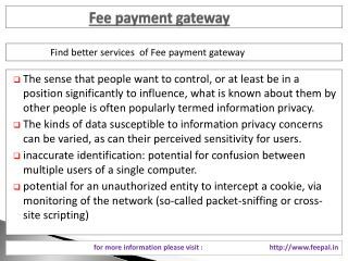 The Most Reliable Service of fee payment gateway