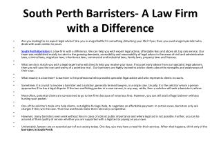 South Perth Barristers