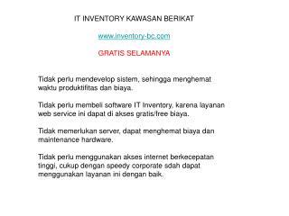 it inventory bea cukai kawasan berikat