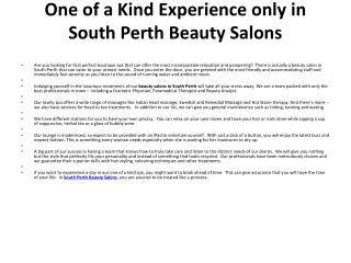 South Perth Beauty Salon