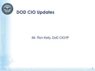 DOD CIO Updates