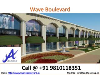 New Launch Wave Boulevard @9810118351 Wave HSSC Sector 25A N