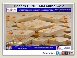 Badam Burfi - MM Mithaiwala