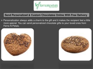 Send Personalised Chocolates To India, Custom Chocolate