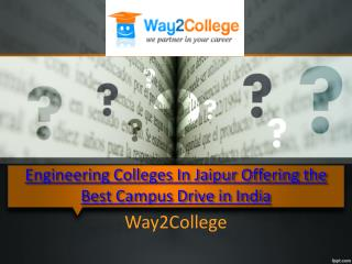 Engineering Colleges In Jaipur Offering the Best Campus Driv