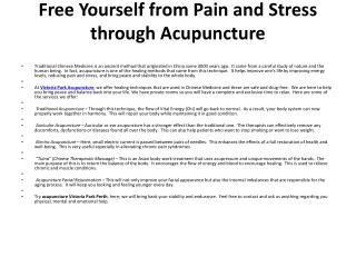Victoria Park Acupuncture