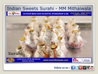 Indian Sweets Surahi - MM Mithaiwala