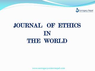 Surrogacy Nepal journal ethics in the world