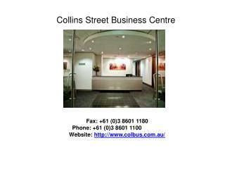 Serviced and Virtual Offices in Melbourne, Victoria