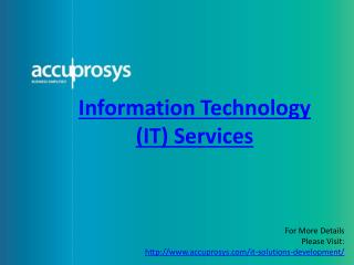 IT services in Hyderabad - Accuprosys
