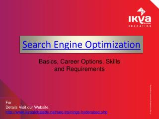 SEO Training in Hyderabad - Ikya Global Education