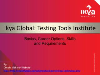 Software Testing Training in Hyderabad - Ikya Global EDU
