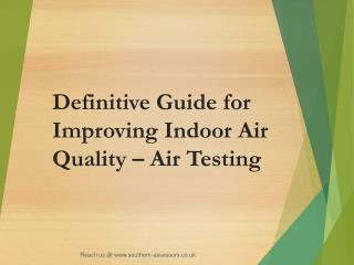 Definitive Guide for Improving Indoor Air Quality – Air Test
