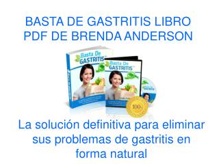 Basta de Gastritis libro pdf de Brenda Anderson
