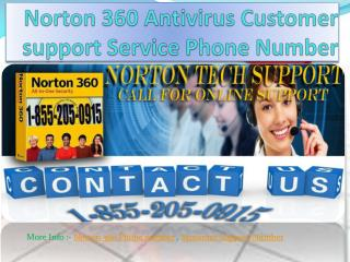1-855-205-0915 Norton 360 Antivirus Customer Support Service