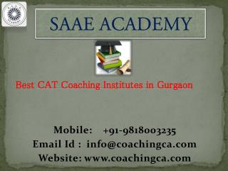 Best CAT Coaching Institutes in Gurgaon