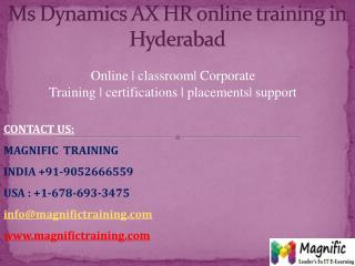 ms dynamics hr online training in australia