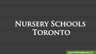 Nursery Schools Toronto