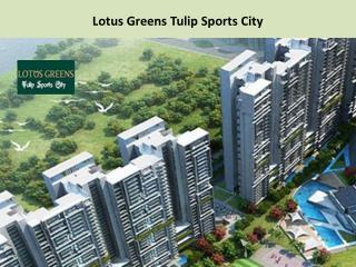 Lotus Greens Tulip Sports City 2/3/4 Bhk Call @  91- 9560090