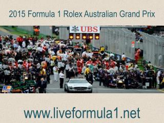 WATCH Formula one Australian Grand Prix  Live Webstreaming