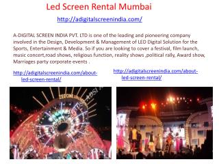 Led Screen Rental Mumbai