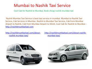Cab from Mumbai Airport to Nashik
