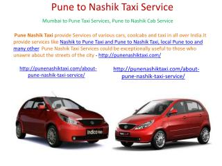 Pune Nashik Local Taxi