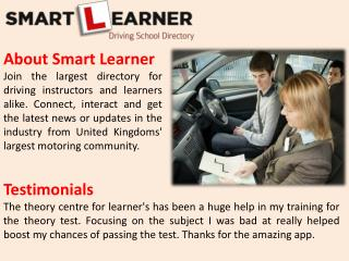Driving Instructor In London | Smart Learner