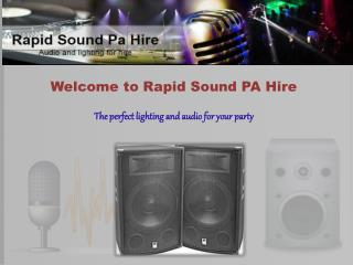 Disco Equipment Hire