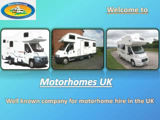 Motorhome Hire by Motorhomes UK
