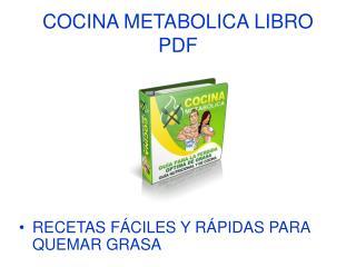 Cocina Metabolica libro pdf
