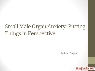 Small Male Organ Anxiety: Putting Things in Perspective