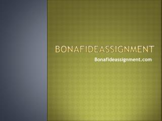 Nursing Assignment Help- bonafideassignment.com