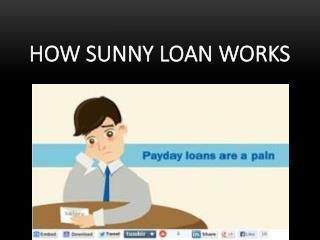 How Sunny Loan Works