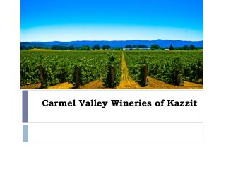 Carmel Valley Wineries of Kazzit